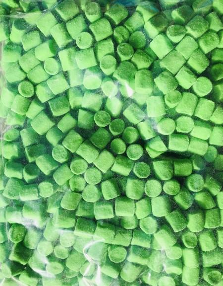 CRUNCHY penaste bombone 1kg zelene