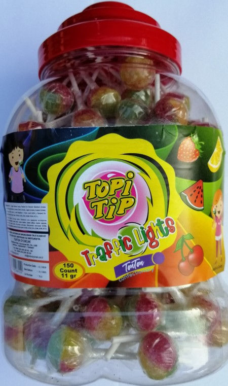 Lizalica Topi Tip Trikolor tegla 11g(150/1)