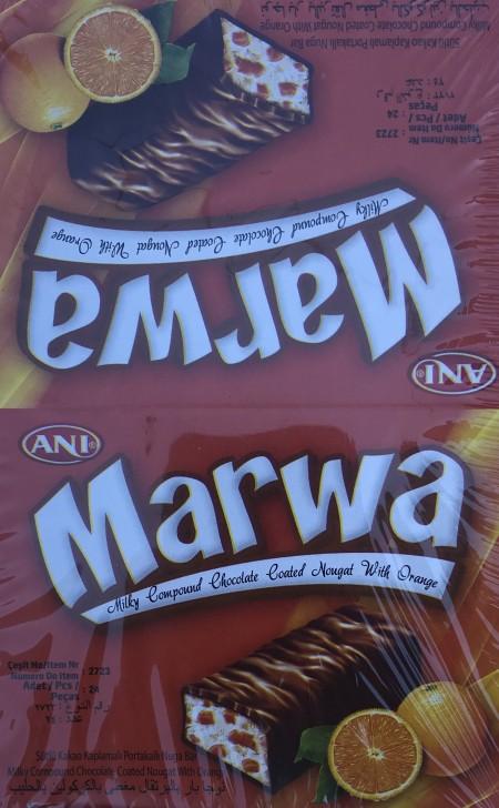 Čokoladica mini 22g Marwa narandza (24/1)