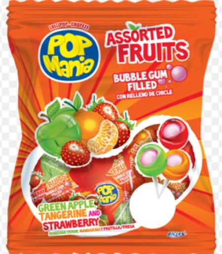 Lizalica pop mania assorted fruits 17g (50/1)