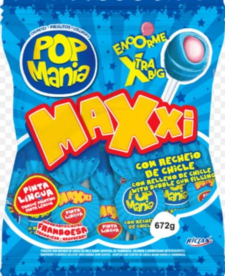 Lizalica pop mania xxl malina 28g (24/1)