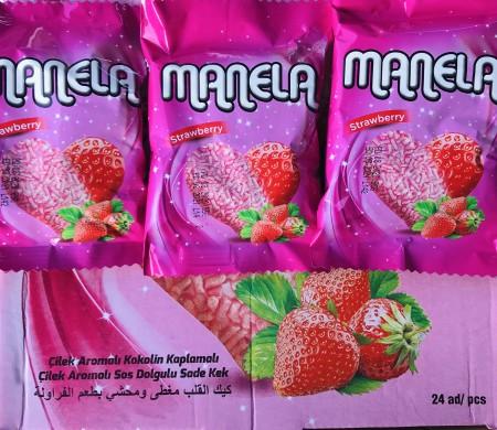 Biskvit Manela srce jagoda 65g (24/1)