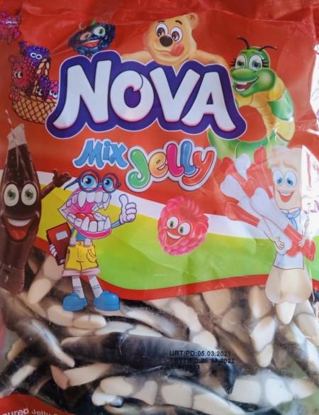 Nova mix jelly gumene bombone 1kg riba