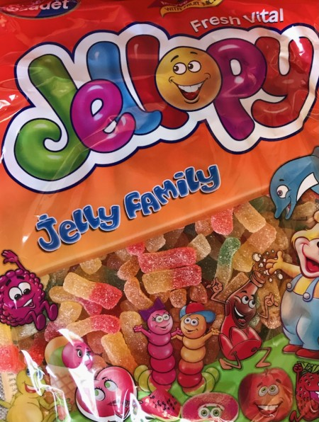 Jellopy gumene bombone 1kg šećerni crvi